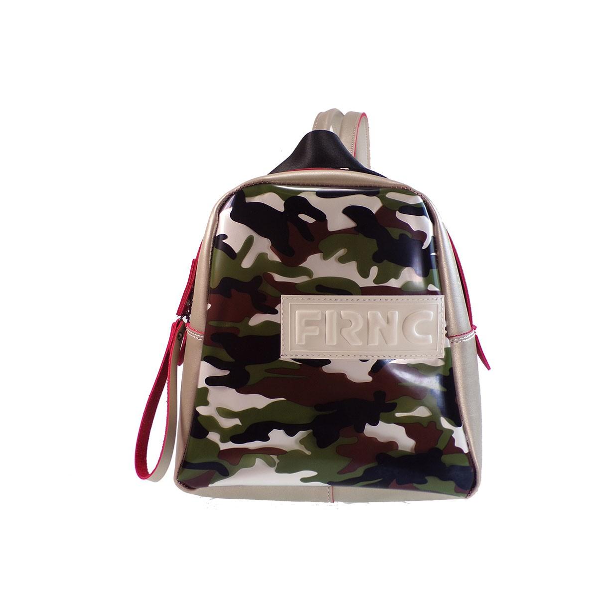 4eafabf10f FRNC FRANCESCO Τσάντα Γυναικεία Πλάτης-Backpack 2201 Πλατίνα ...