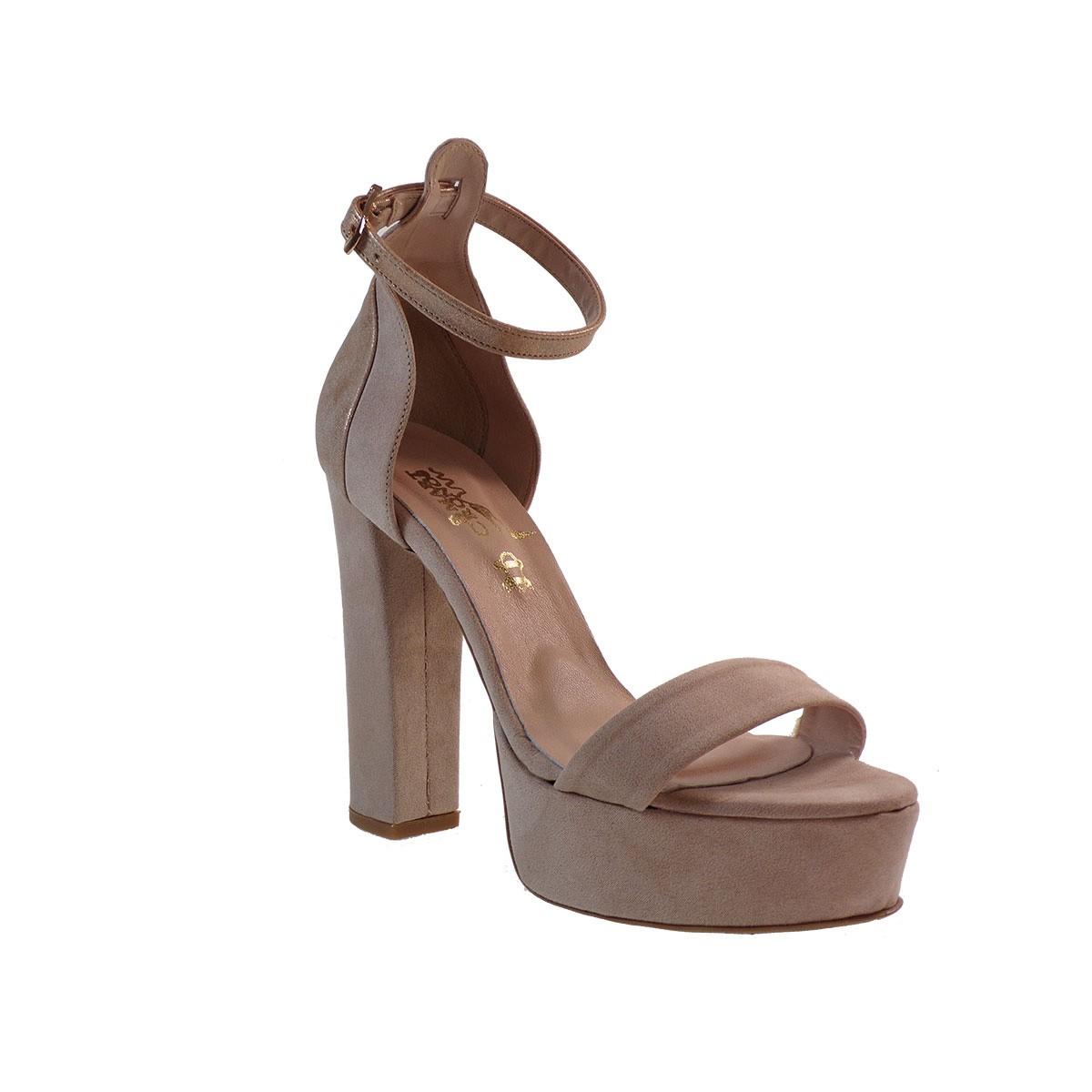 Smart Cronos Γυναικεία Παπούτσια Πέδιλα 6816-3597 Μπέζ-ρόζ-χρυσό Καστόρι Δέρμα