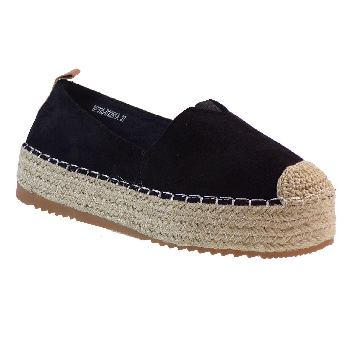 Bagiota shoes Εσπαντρίγιες Γυναικείες BP325 Mαύρο