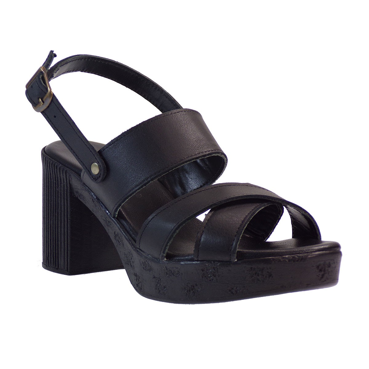 Commanchero Γυναικεία Πέδιλα 5484 Μαύρο Δέρμα