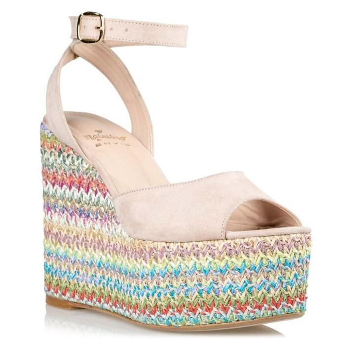Mairiboo by Envie Shoes Γυναικεία Πέδιλα Πλατφόρμες M03-09640-90 Nude MaliBoo