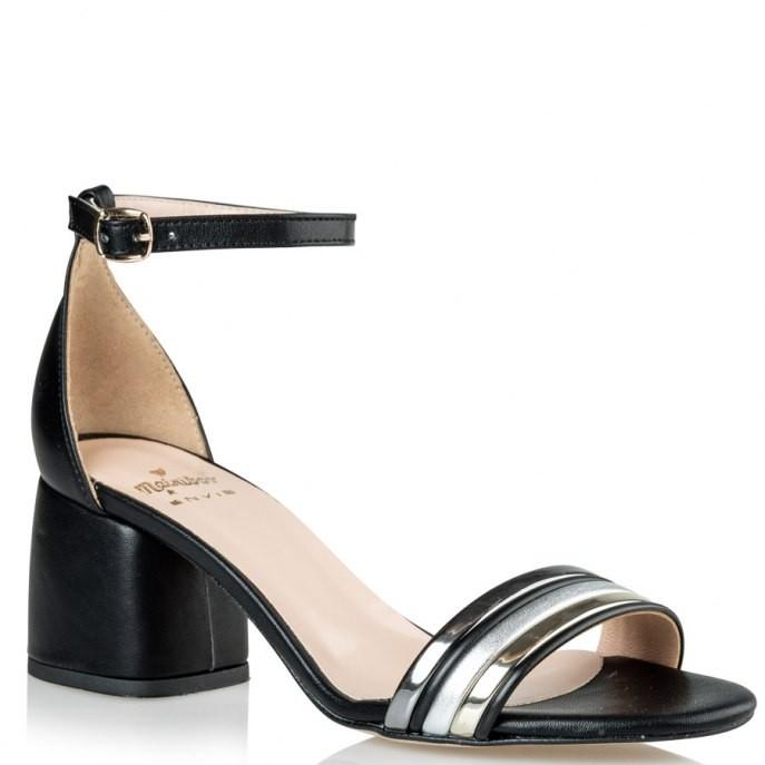 Mairiboo by Envie Shoes Γυναικεία Πέδιλα M03-09620-34 Μάύρο FIRST DATE