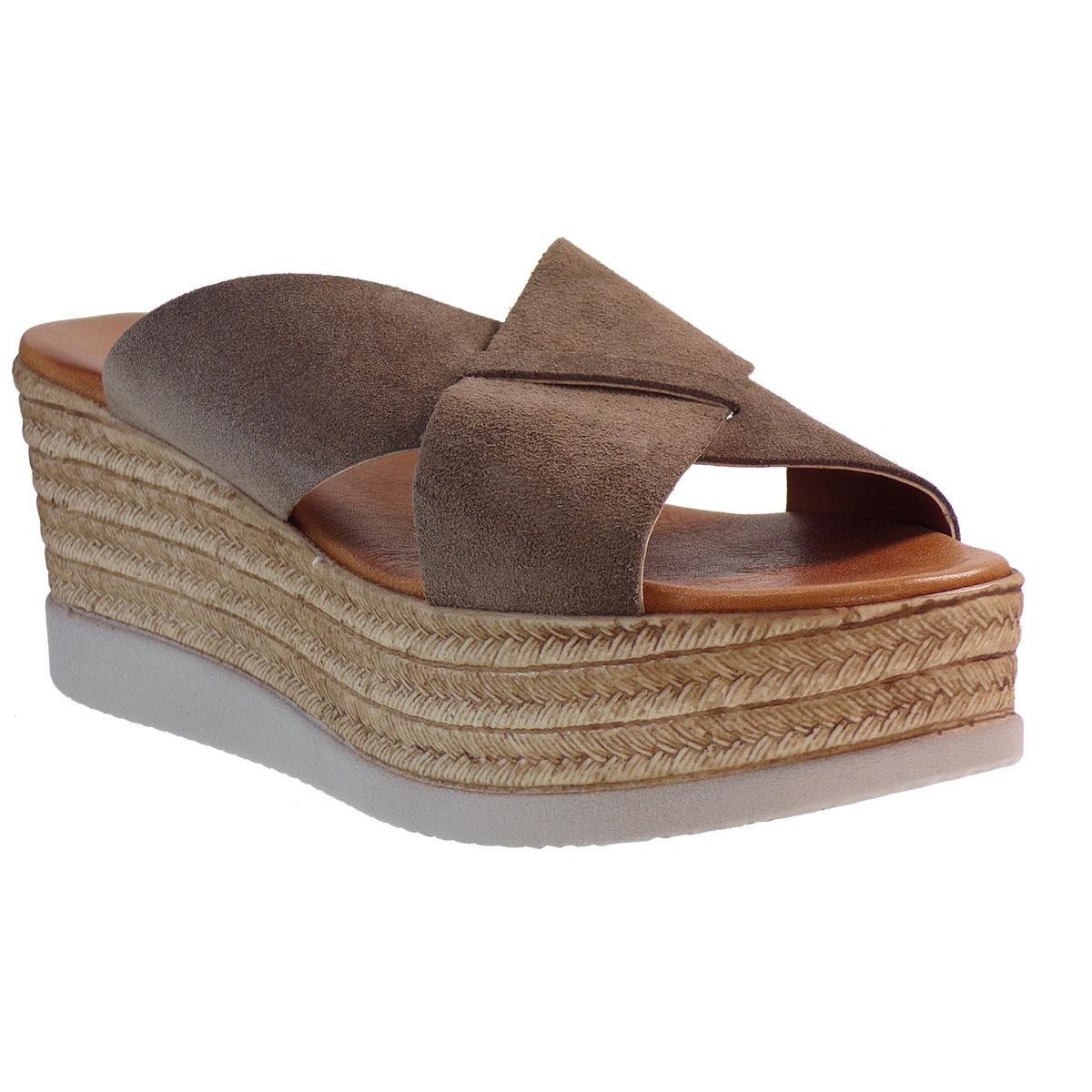 Fardoulis shoes Γυναικείες Πλατφόρμες 64447 Πούρο Καστόρι