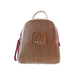 c6eb1dd12f FRNC FRANCESCO Τσάντα Γυναικεία Πλάτης-Backpack 1201 Off White Ψάθα.  €75.00. Add to Wishlist loading