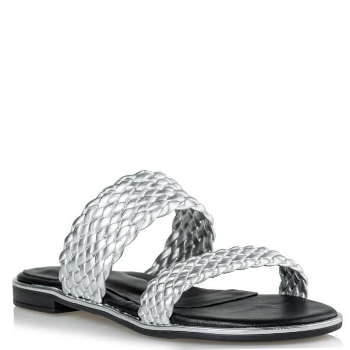 6d5e20f8c7d Mairiboo by Envie Shoes Γυναικεία Πέδιλα M03-09601-21 Ασημί ATHENIAN | Γυναικεία & Ανδρικά Παπούτσια - BagiotaShoes.gr