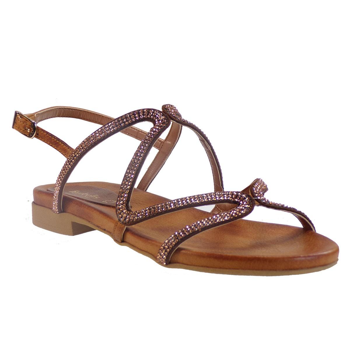 Fardoulis shoes Γυναικεία Παπούτσια Πέδιλα 32304 Ταμπά Δέρμα