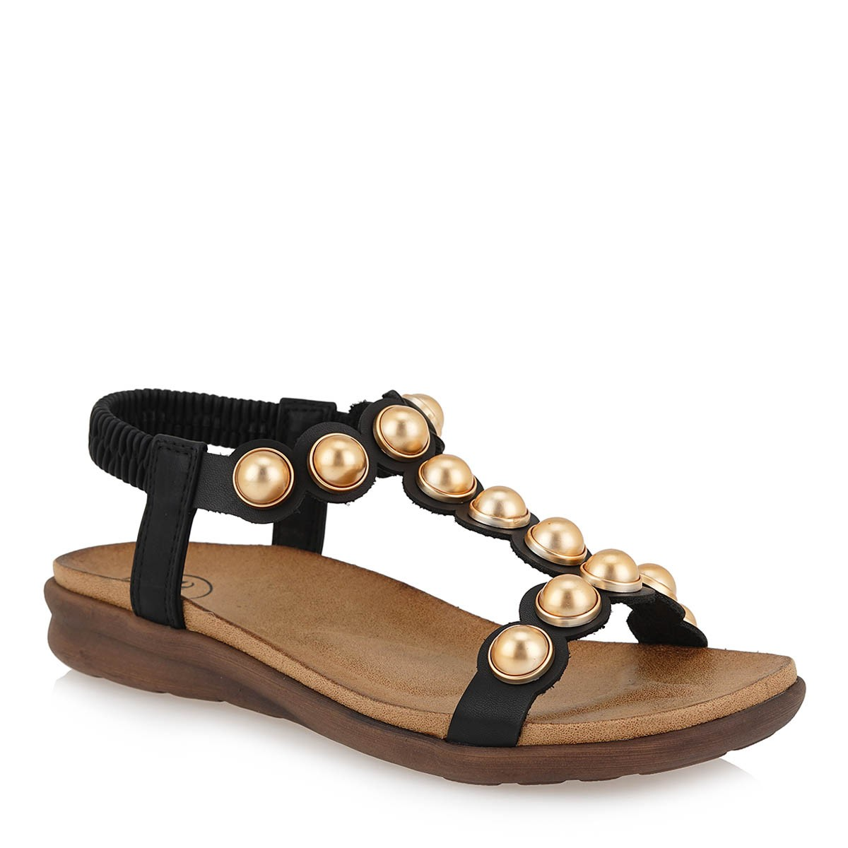 EXE Shoes Γυναικεία Πέδιλα 874 Μαύρο I489Q8742001