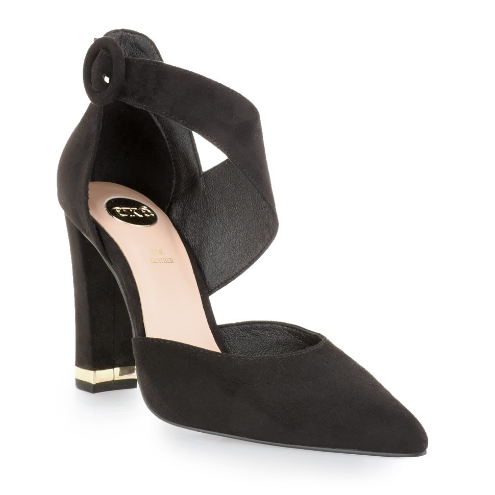 Exe Shoes Γυναικείες Γόβες ALIN-668 Μαύρο Καστόρι J17006685004