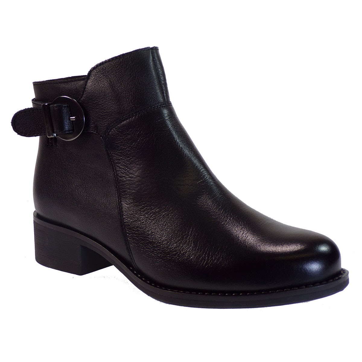 PEPE MENARGUES SHOES Γυναικεία Παπούτσια Μποτάκια 1131 Μαύρο Δέρμα