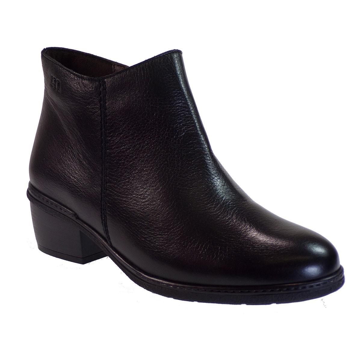 PEPE MENARGUES SHOES Γυναικεία Παπούτσια Μποτάκια 1160 Μαύρο Δέρμα
