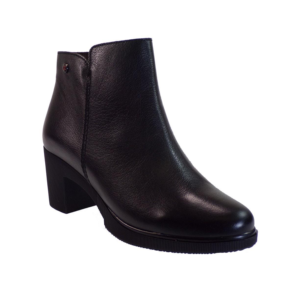 PEPE MENARGUES SHOES Γυναικεία Παπούτσια Μποτάκια 1194 Μαύρο Δέρμα