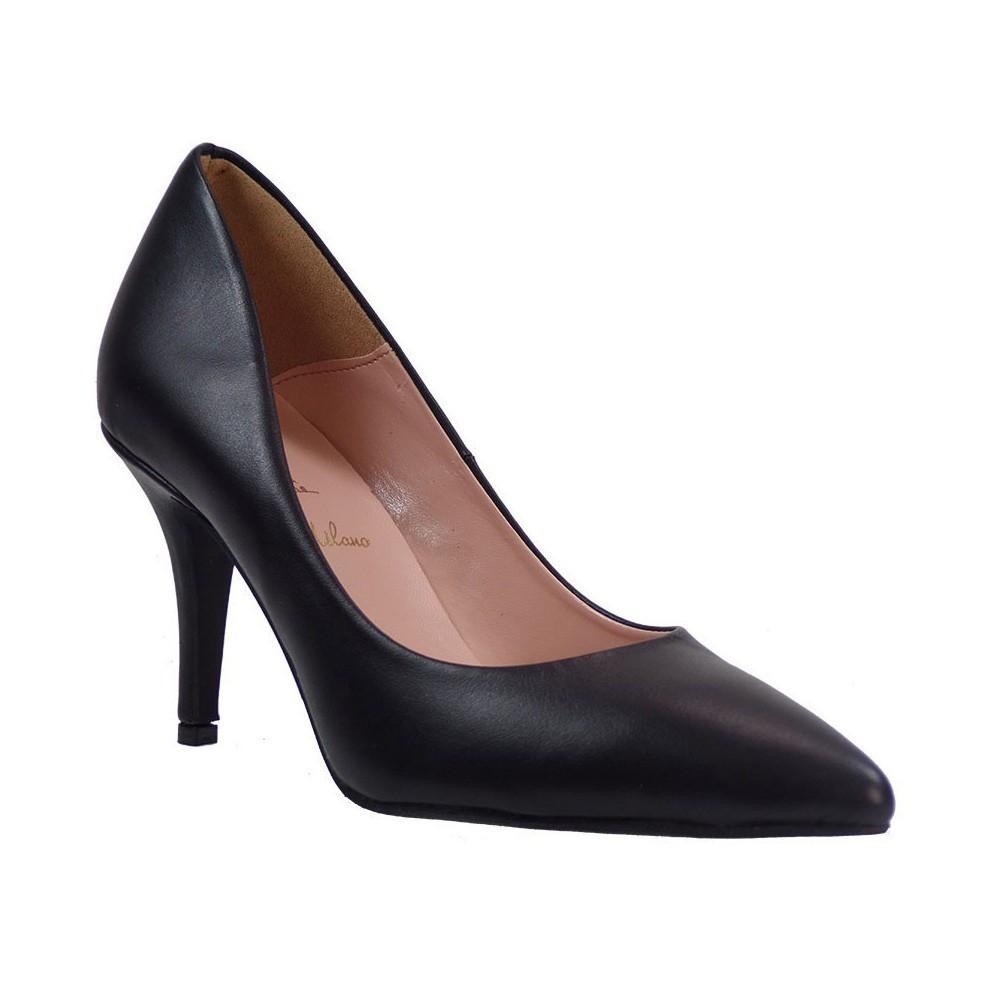 Alessandra Paggioti Γυναικεία Παπούτσια Γόβες 83001 Μαύρο Δέρμα