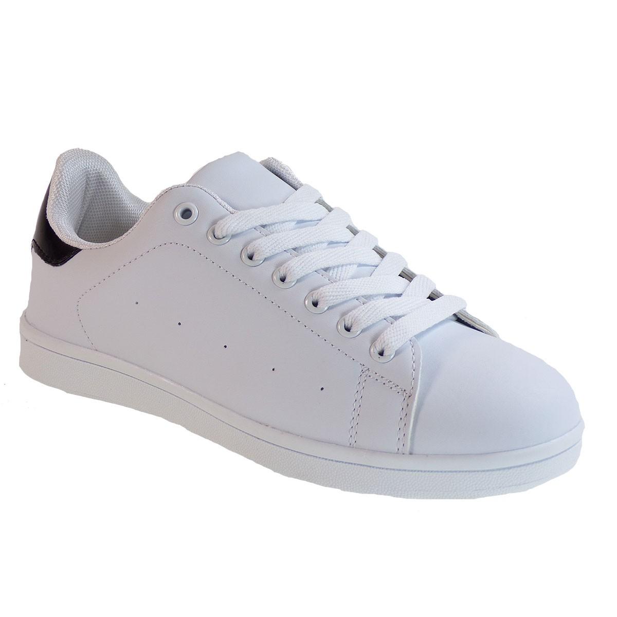 Bagiota Shoes Γυναικεία Παπούτσια Sneakers Αθλητικά Β801-8 Λευκό-Μαύρο