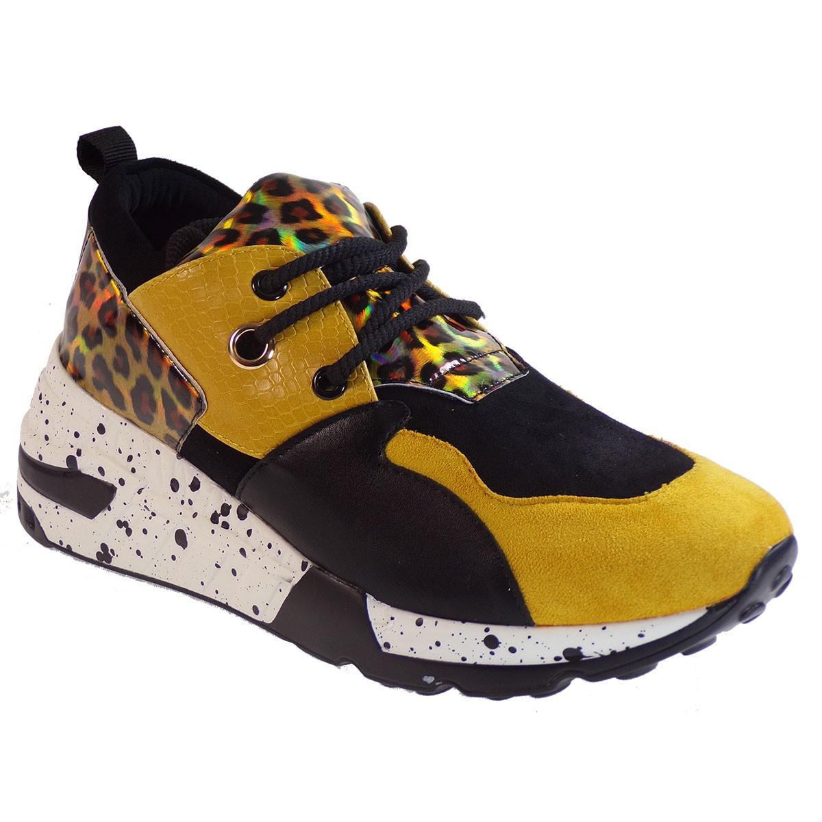 Bagiota Shoes Γυναικεία Παπούτσια Sneakers Αθλητικά H8956 Κίτρινο