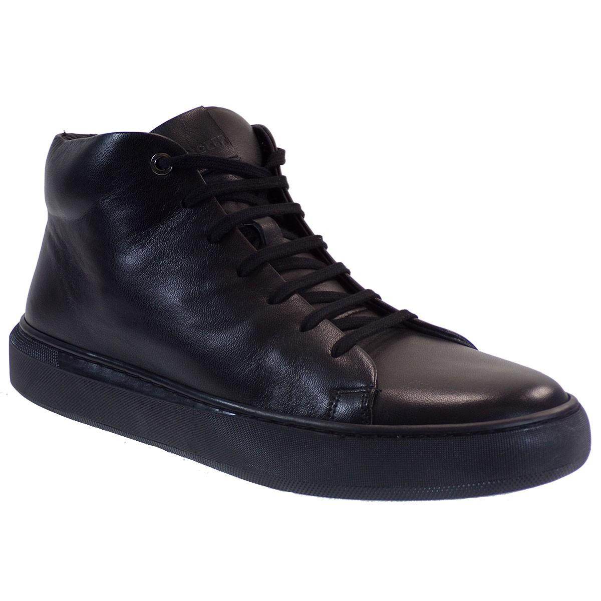 Kricket Shoes Ανδρικά Μποτάκια 4421 Μαύρο Δέρμα