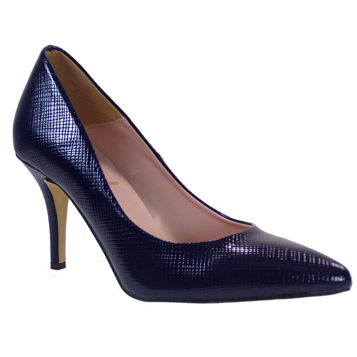Alessandra Paggioti Γυναικεία Παπούτσια Γόβες 83001 Μπλέ Safione