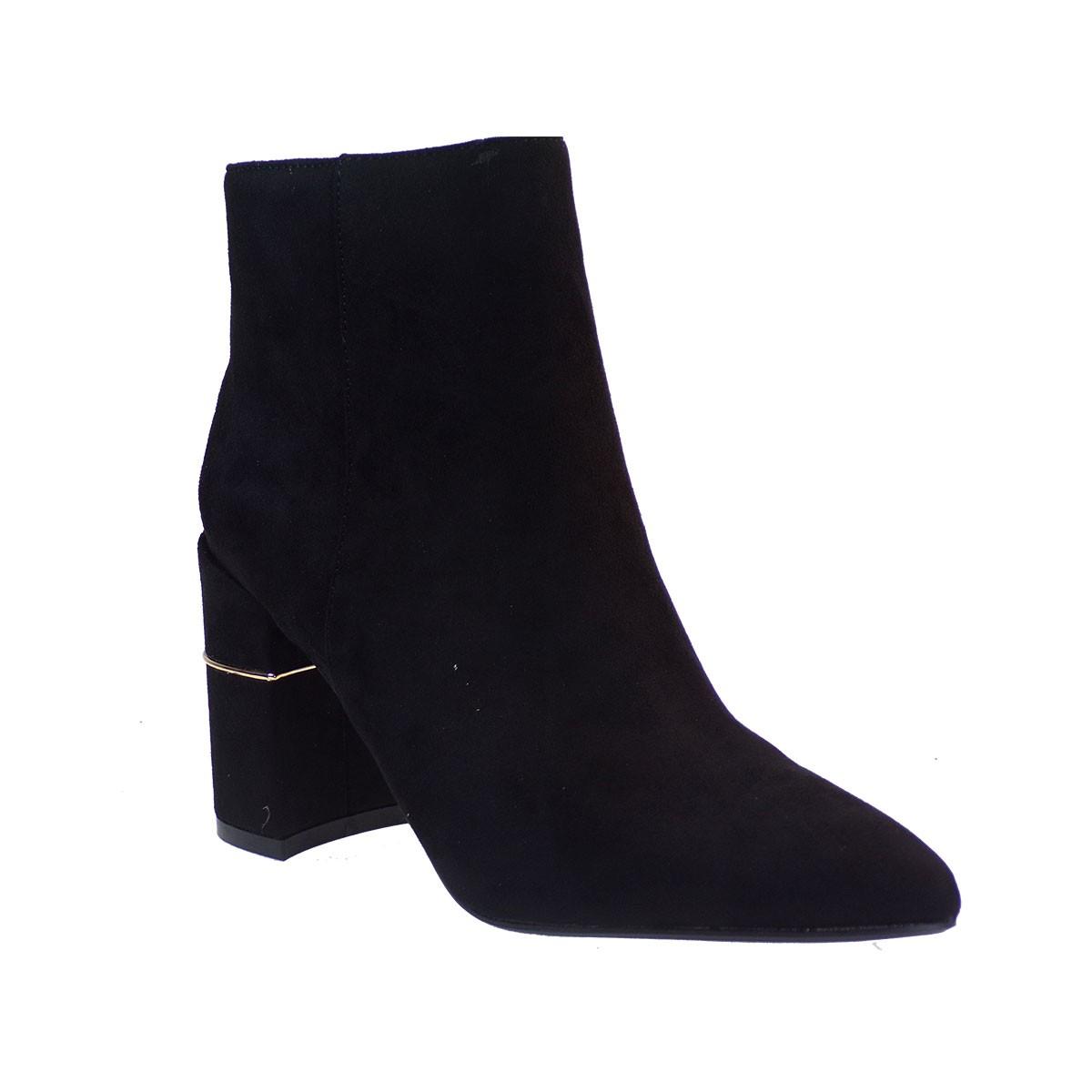 Exe Shoes Γυναικεία Μποτάκια 649-Η1100-Κ649 Μαύρο J3695649500405