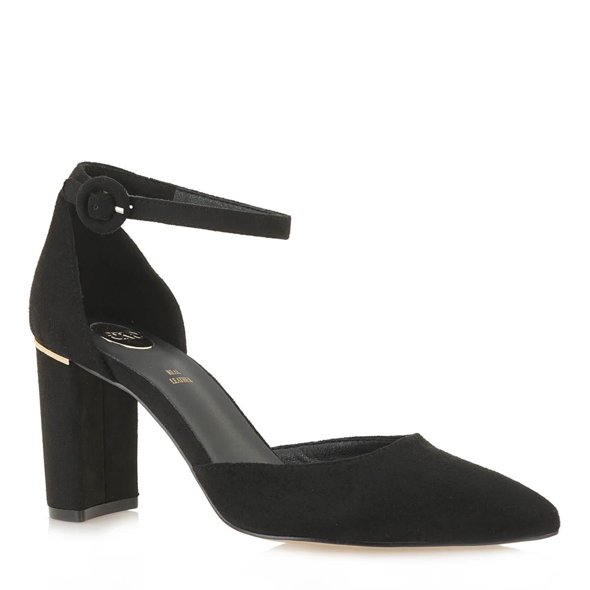 Exe Shoes Γυναικείες Γόβες 100-LES4E Μαύρο Καστόρι J1700100497