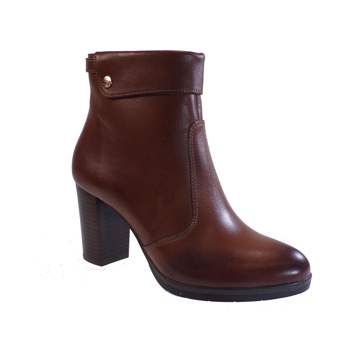 Fardoulis Shoes Γυναικεία Παπούτσια Μποτάκια 1122 Ταμπά Δέρμα