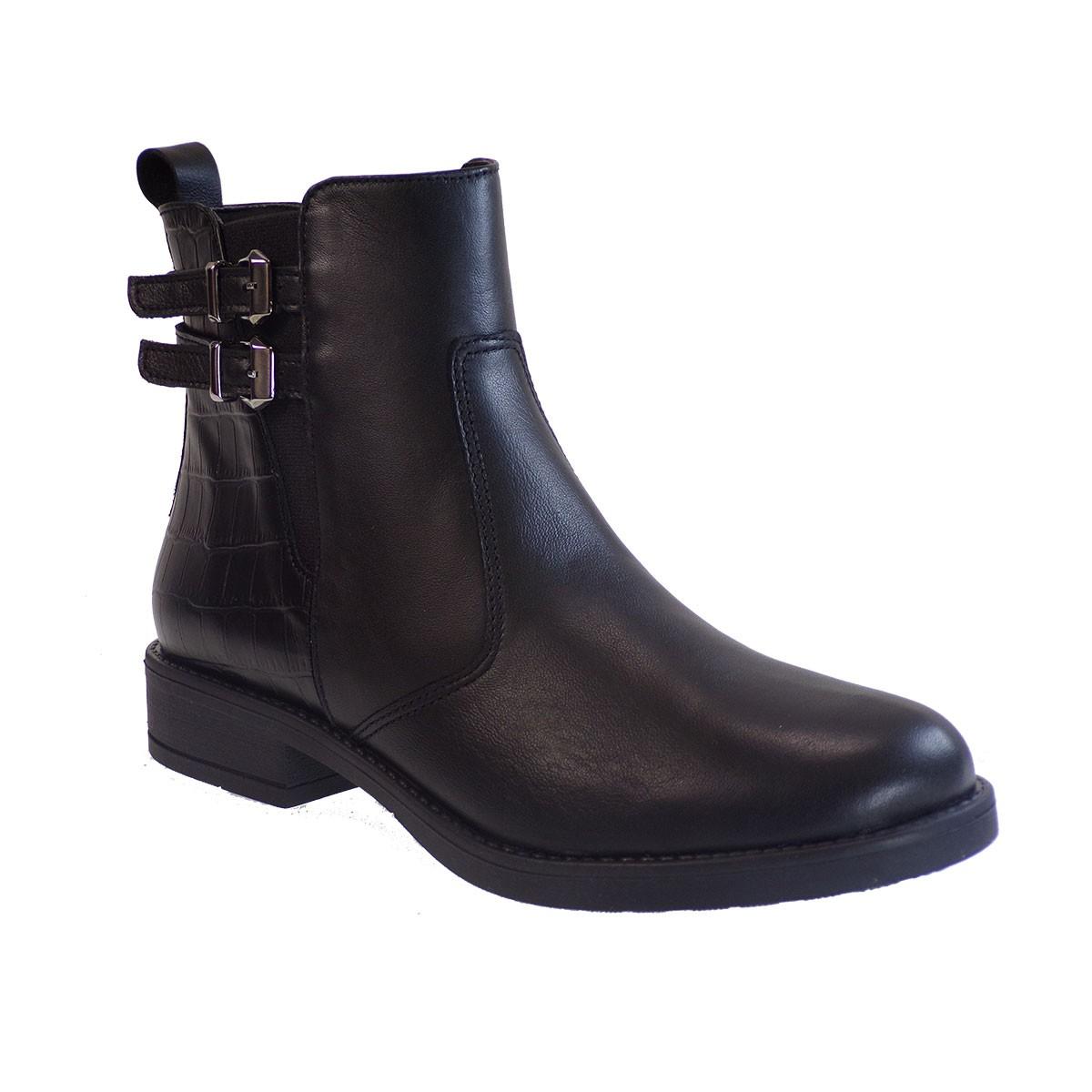 Fardoulis Shoes Γυναικεία Παπούτσια Αρβυλάκια 143 Μαύρο Δέρμα