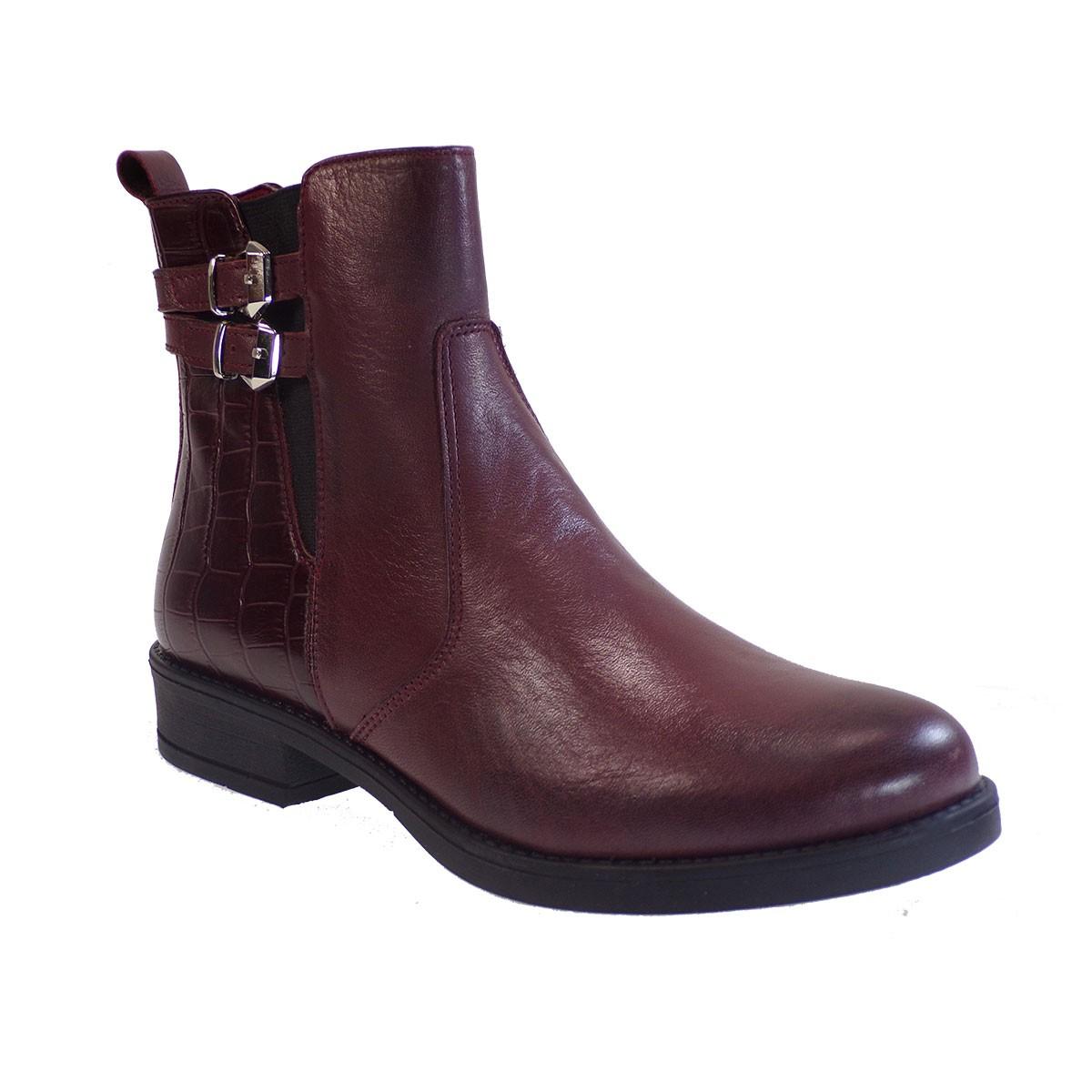 Fardoulis Shoes Γυναικεία Παπούτσια Αρβυλάκια 143 Μπορντώ Δέρμα