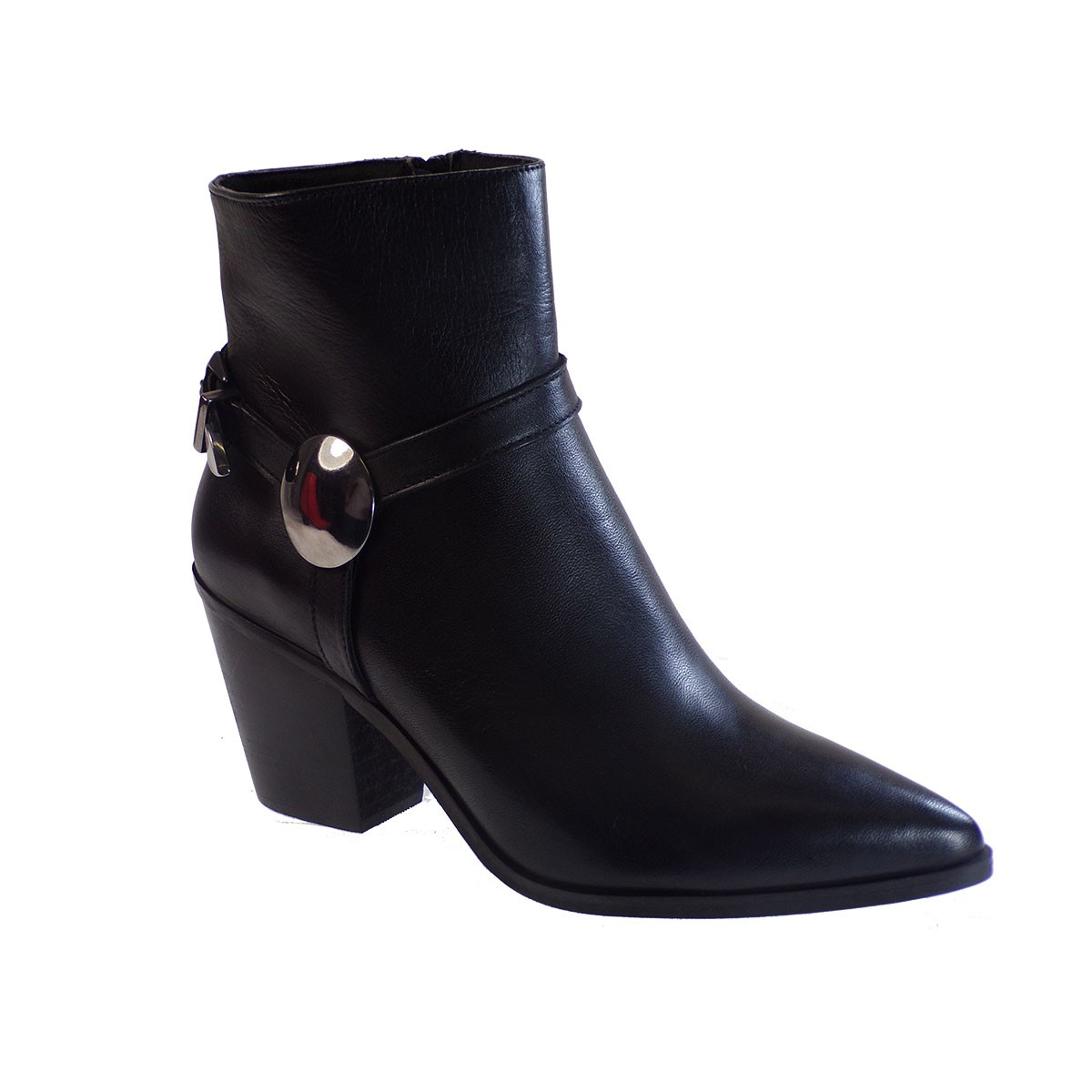 Fardoulis Shoes Γυναικεία Παπούτσια Μποτάκια K217 Μαύρο Δέρμα