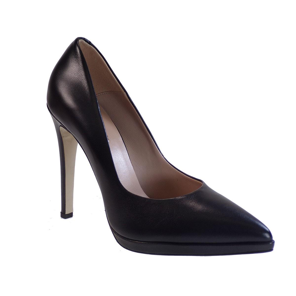 Fardoulis Shoes Γυναικεία Παπούτσια Γόβες 2601 Μαύρο Δέρμα