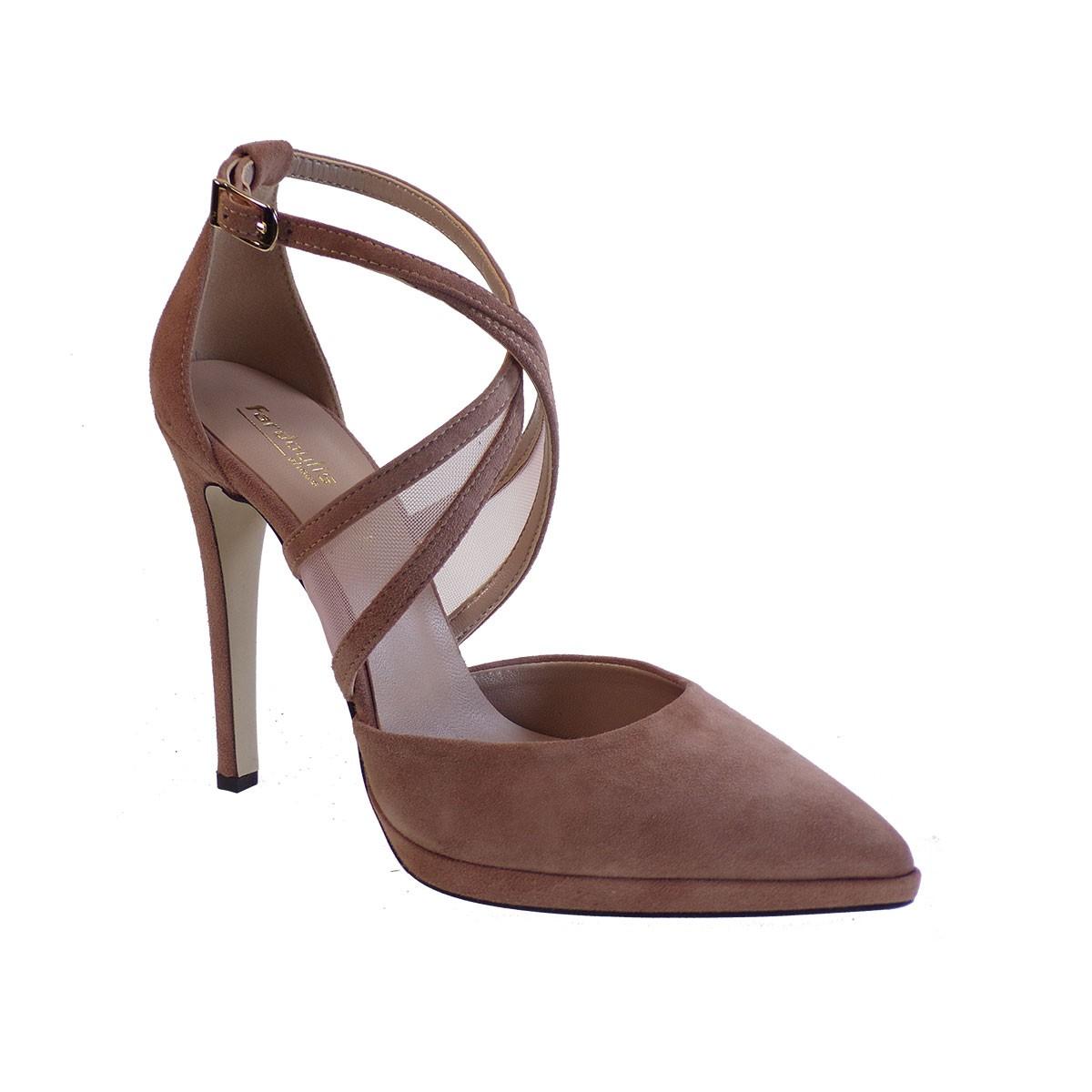 Fardoulis Shoes Γυναικεία Παπούτσια Γόβες 2635 Nude Δέρμα Καστόρι