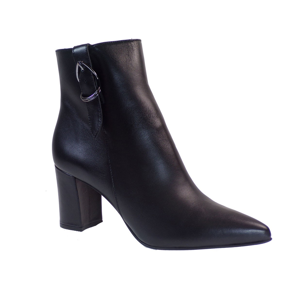 Fardoulis Shoes Γυναικεία Παπούτσια Μποτάκια 6528X Μαύρο Δέρμα