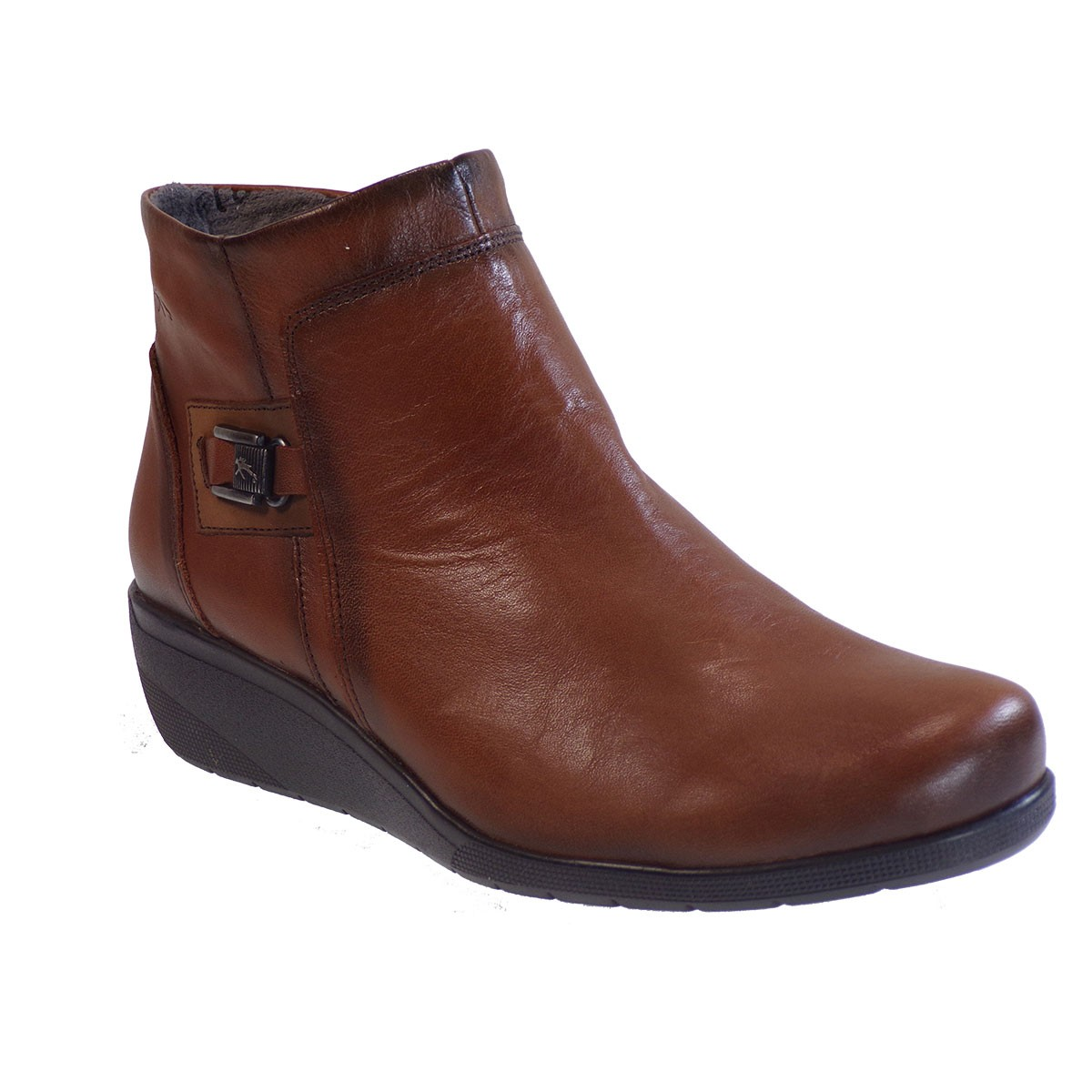 Fluchos Femme Γυναικεία Παπούτσια Μποτάκια F0595-34555 Ταμπά Δέρμα