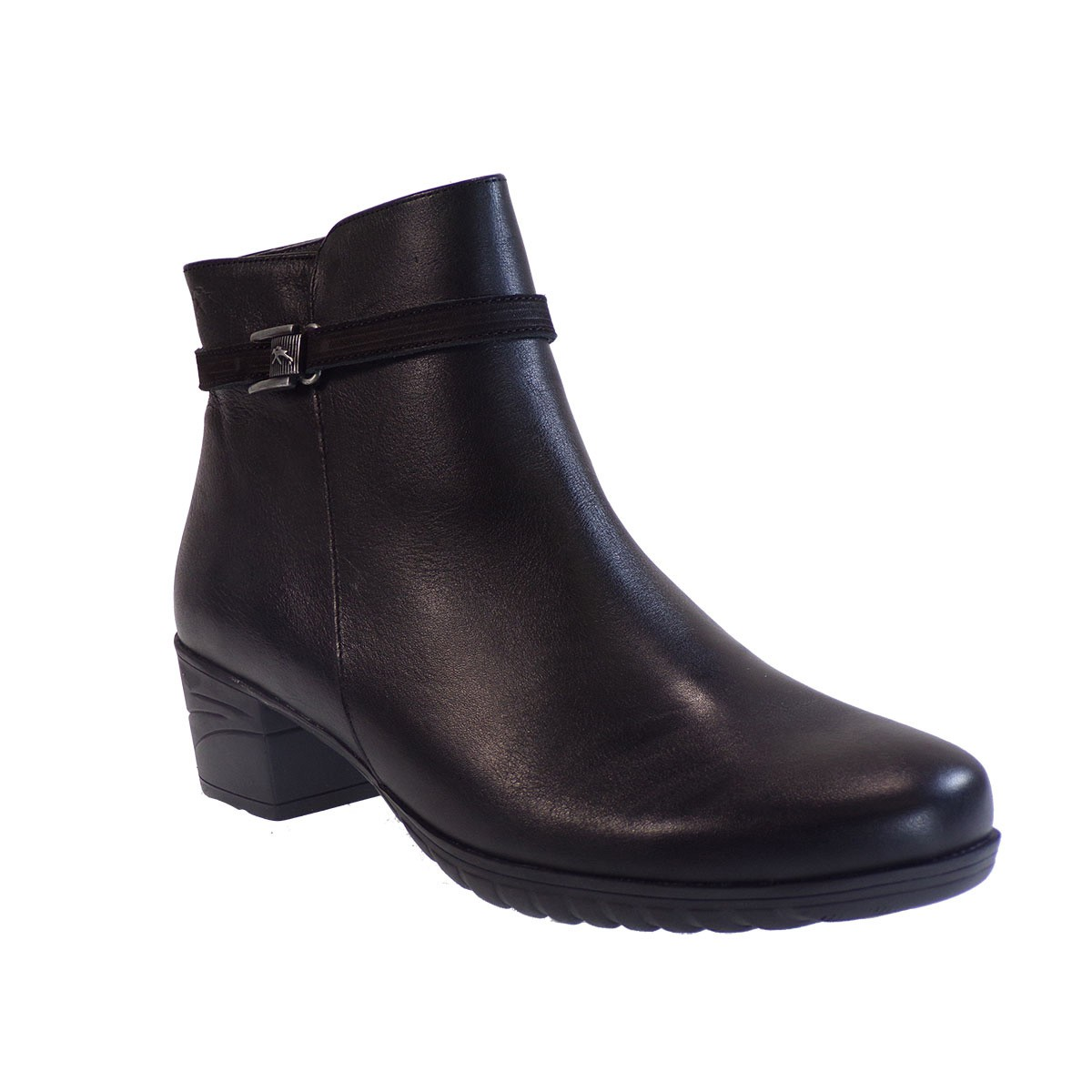 Fluchos Femme Γυναικεία Παπούτσια Μποτάκια F0588 CHARIS 34525 Μαύρο Δέρμα