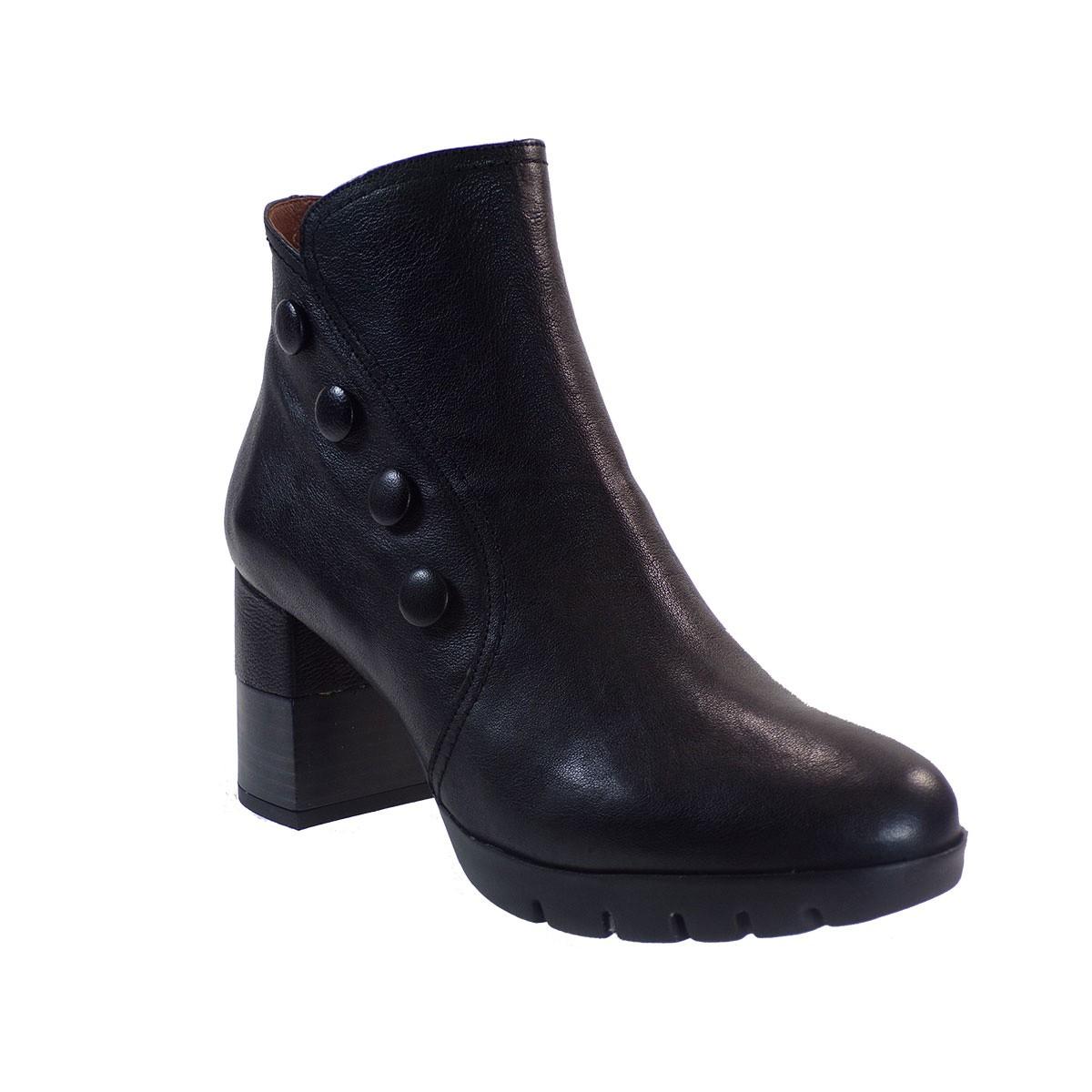 Hispanitas Γυναικεία Παπούτσια Mποτάκια HI99388 Μαύρο Δέρμα