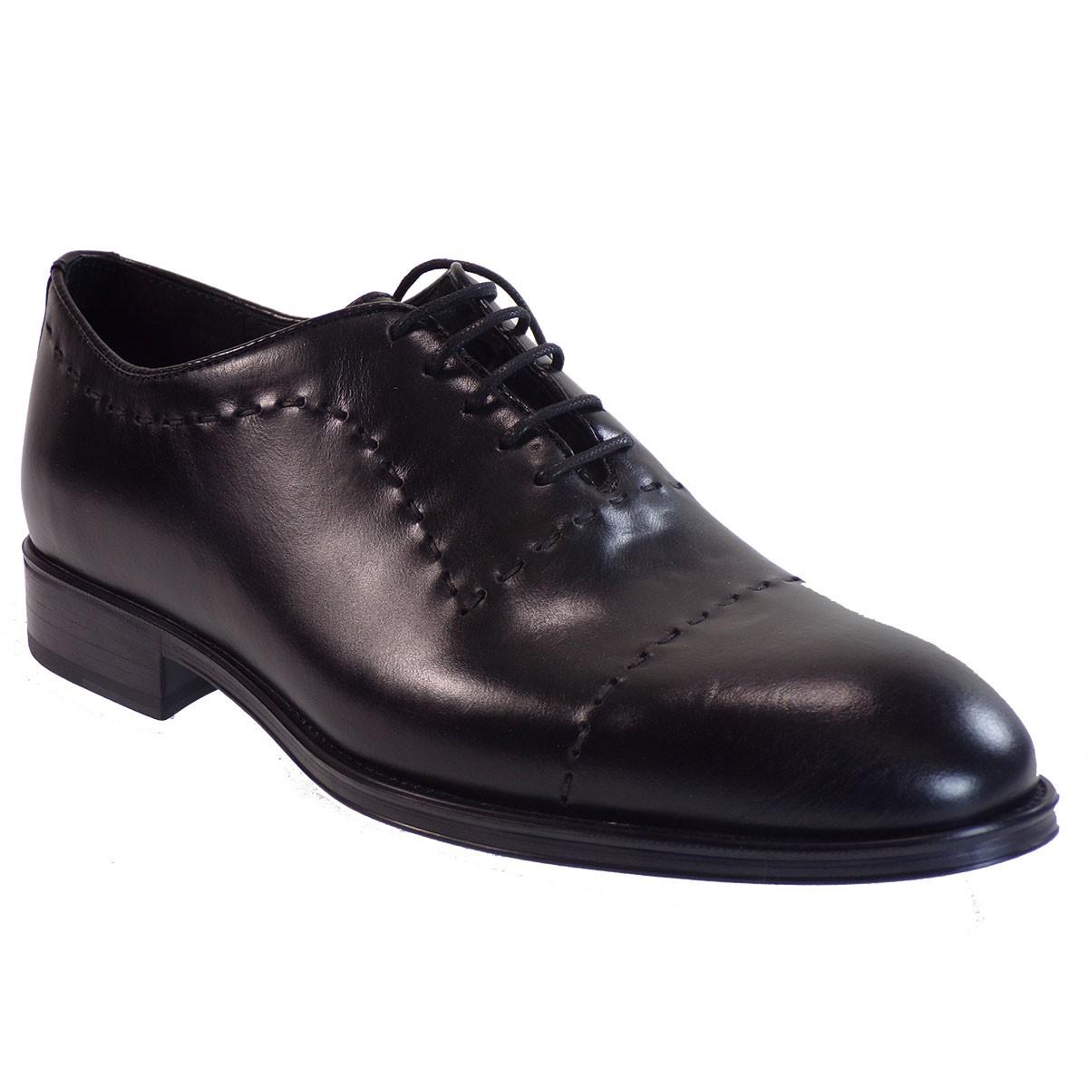 kricket Ανδρικά Παπούτσια 6615 Μαύρο Δέρμα