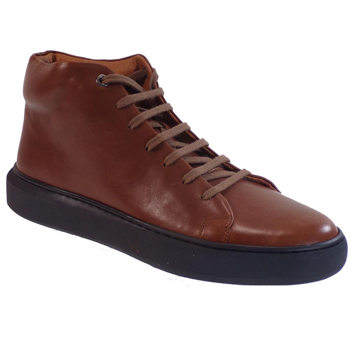 Kricket Shoes Ανδρικά Μποτάκια 4421 Ταμπά Δέρμα
