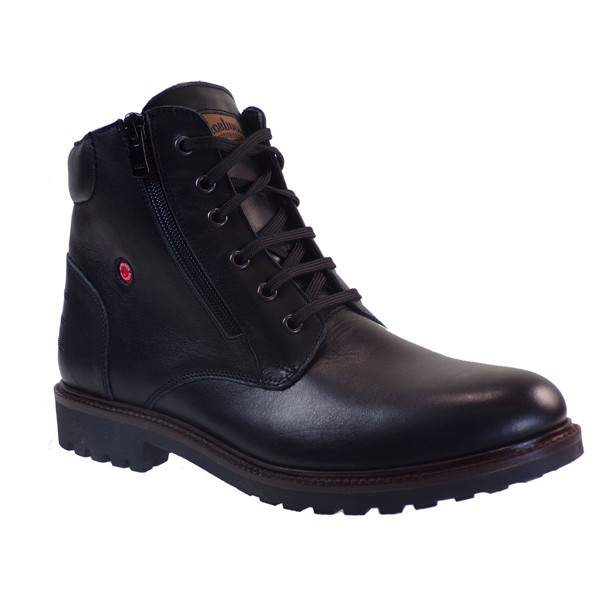 Robinson Ανδρικά Παπούτσια Μποτάκια Αρβυλάκια 1706 Μαύρο Δέρμα