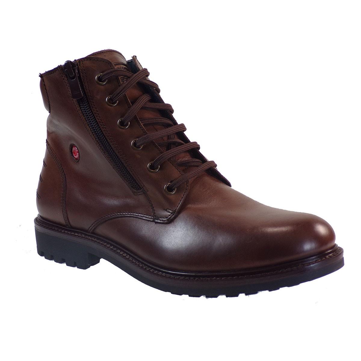 Robinson Ανδρικά Παπούτσια Μποτάκια Αρβυλάκια 1706 Καφέ Δέρμα