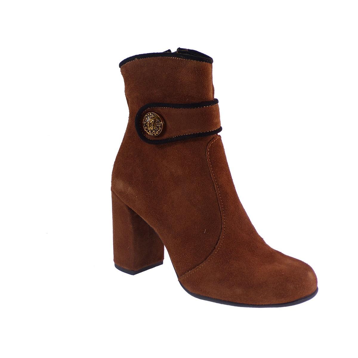 Smart Cronos Γυναικεία Παπούτσια Μποτάκια 7145-3738 Ταμπά Δέρμα Καστόρι