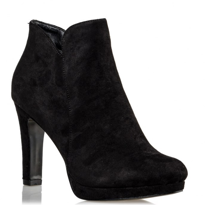 Miss NV Γυναικεία Παπούτσια Μποτάκια V57-10623-34 Μαύρο Καστόρι