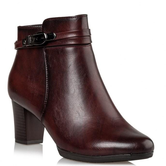 Miss NV Γυναικεία Παπούτσια Μποτάκια V89-10113-39 Μπορντώ