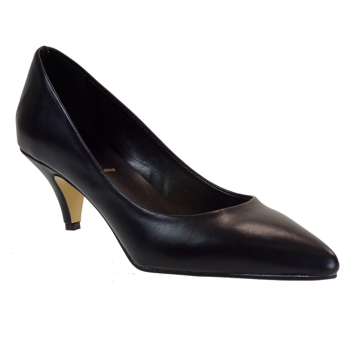 Alessandra Paggioti Γυναικεία Παπούτσια Γόβες 84001 Μαύρο Δέρμα