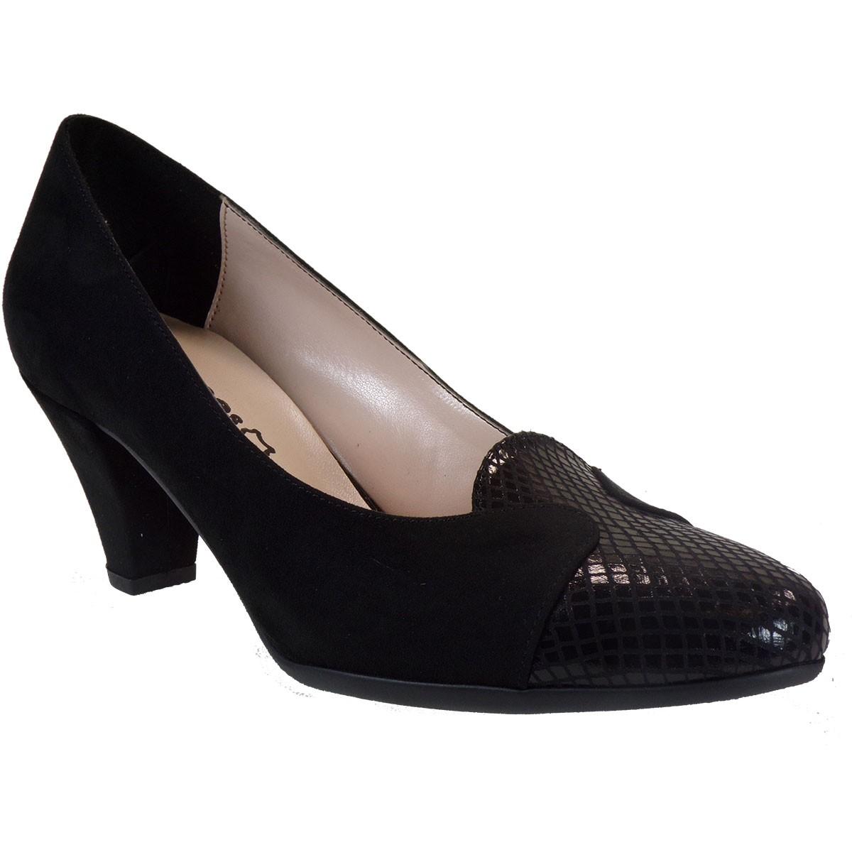 Katia Shoes Γυναικεία Παπούτσια Γόβες 55-872 Μαύρο Φίδι