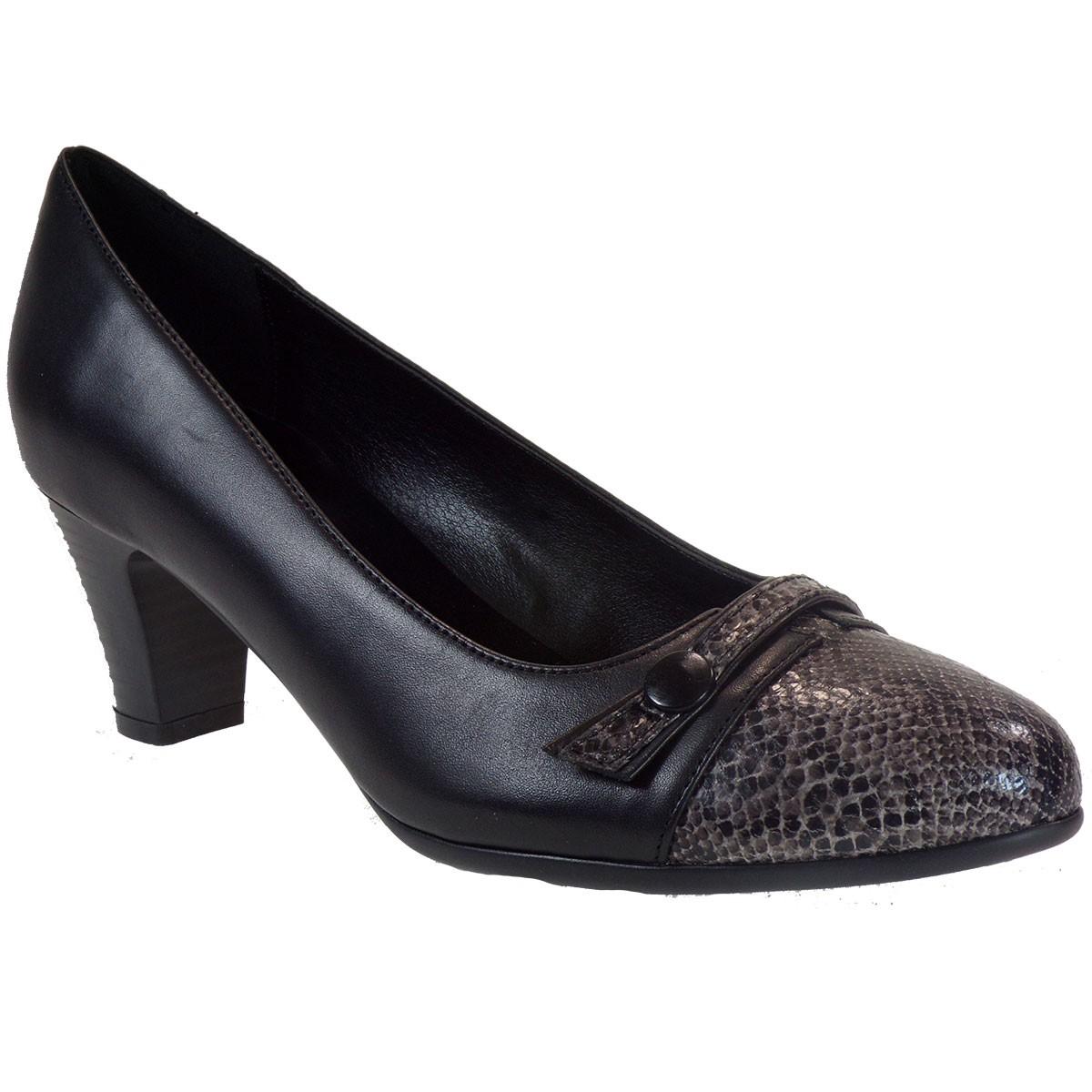 Katia Shoes (Anneto) Γυναικεία Παπούτσια Γόβες Κ53-5096 Μαύρο Φίδι