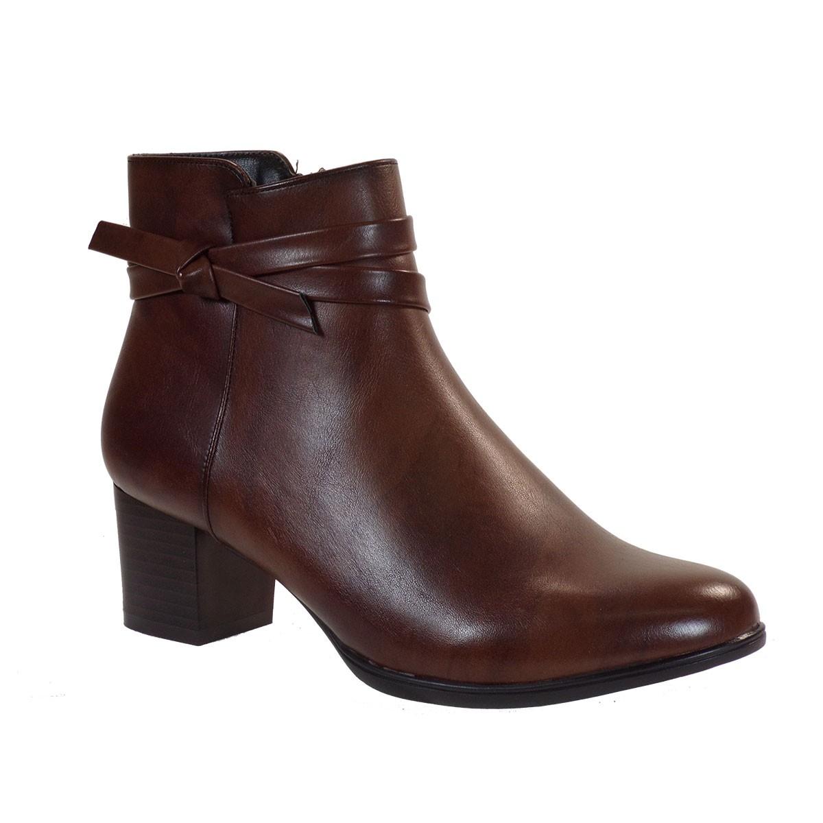 Miss NV Γυναικεία Παπούτσια Μποτάκια V89-10114-28 Καφέ