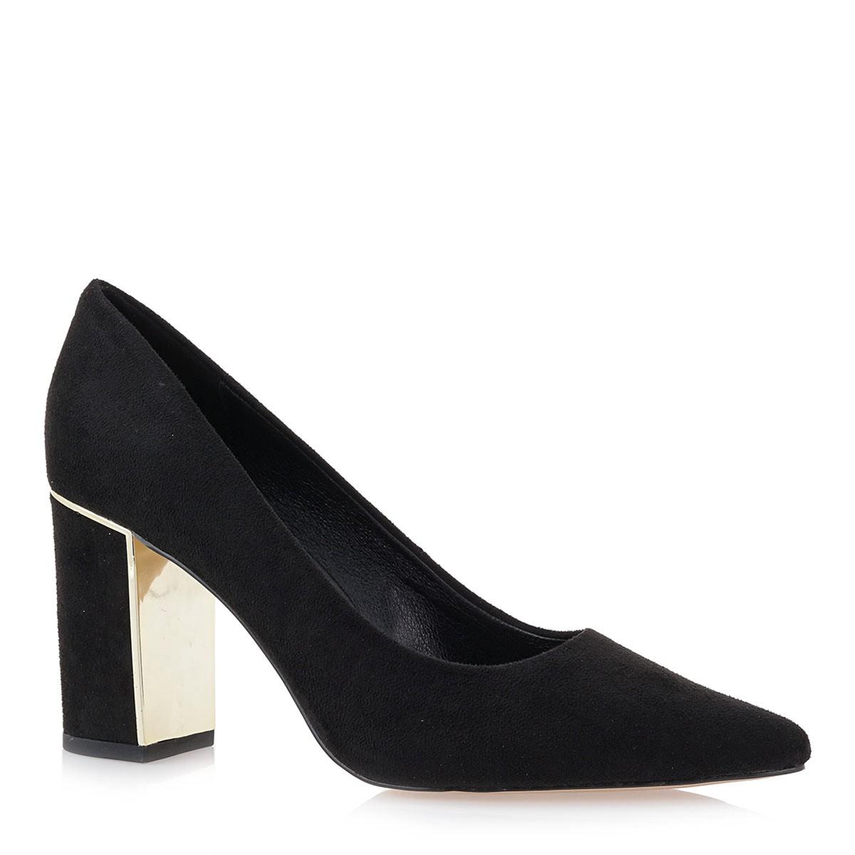 Exe Shoes Γυναικείες Γόβες 125-CLAUDIA Μαύρο Καστόρι J17001254004