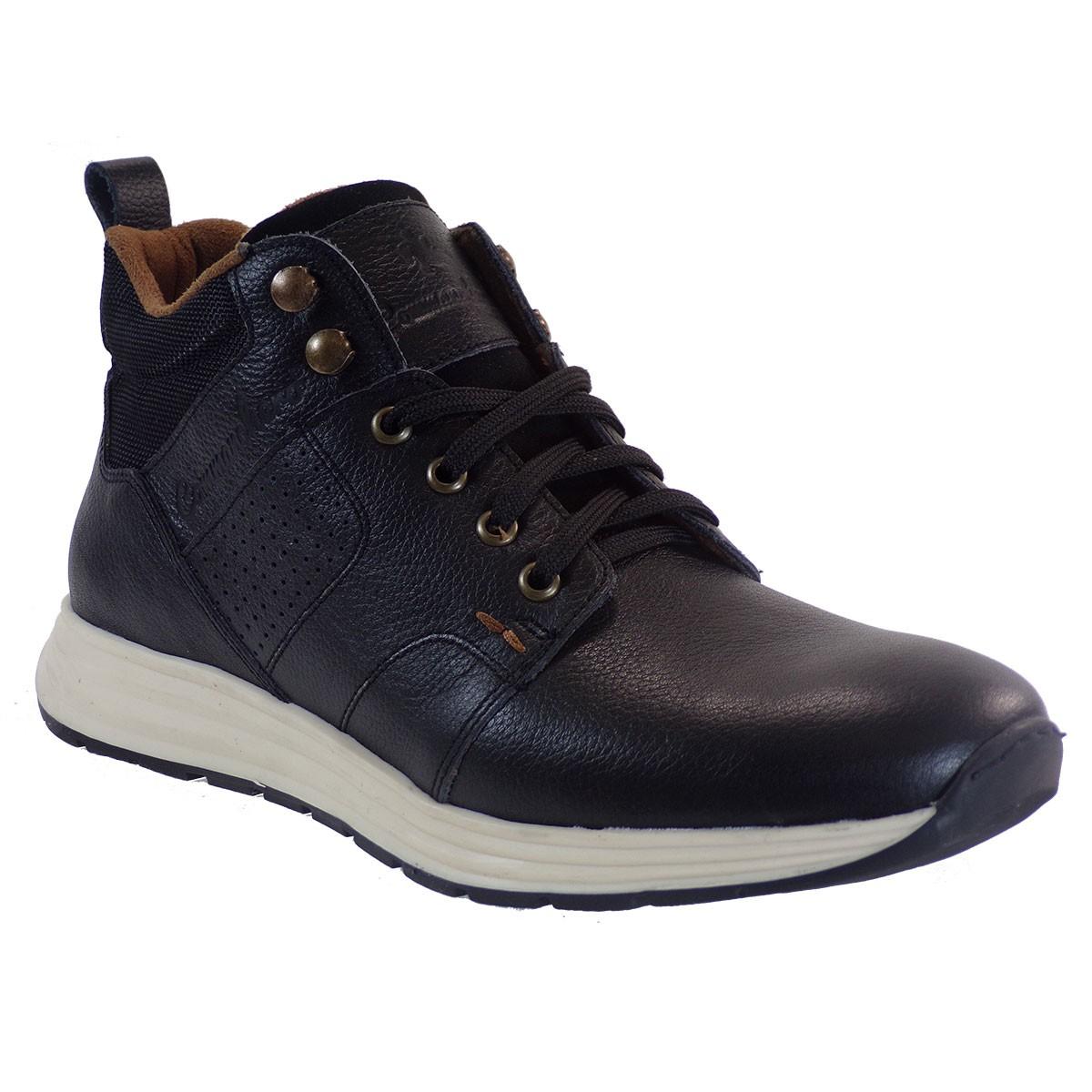 Commanchero Ανδρικά Μποτάκια Αστραγάλου Sneakers 72111-721 Μαύρο Δέρμα