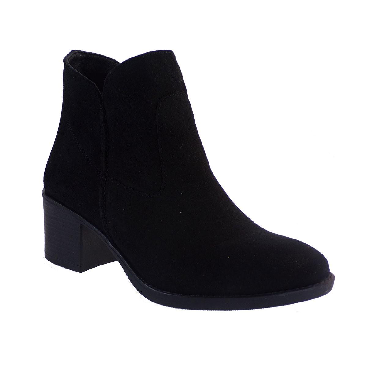 Commanchero Γυναικεία Παπούτσια Μποτάκια 5564-421 Μαύρο Καστόρι Δέρμα