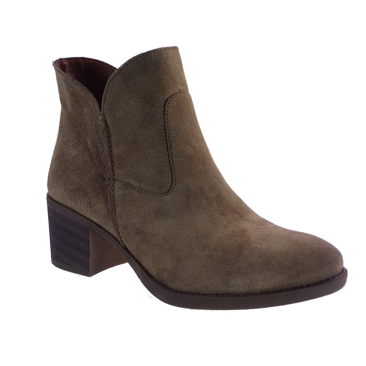 Commanchero Γυναικεία Παπούτσια Μποτάκια 5564-4213 Λαδί Καστόρι Δέρμα