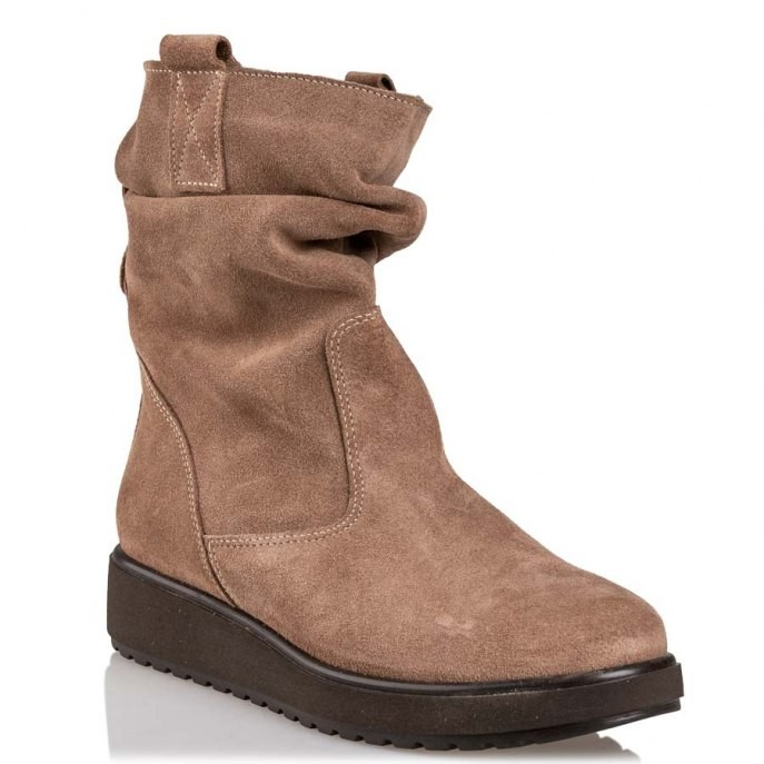 Envie Shoes Γυναικεία Παπούτσια Μποτάκια E02-10111-47 Πούρο Δέρμα Καστόρι