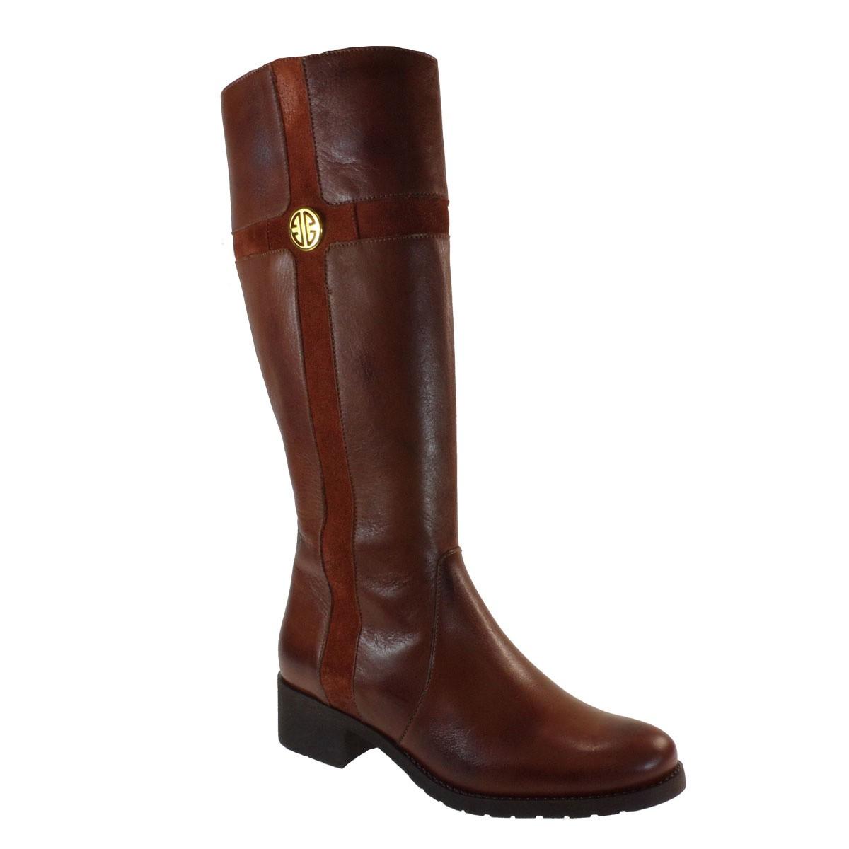 Fardoulis Shoes Γυναικεία Παπούτσια Μπότα 1807 Ταμπά Δέρμα