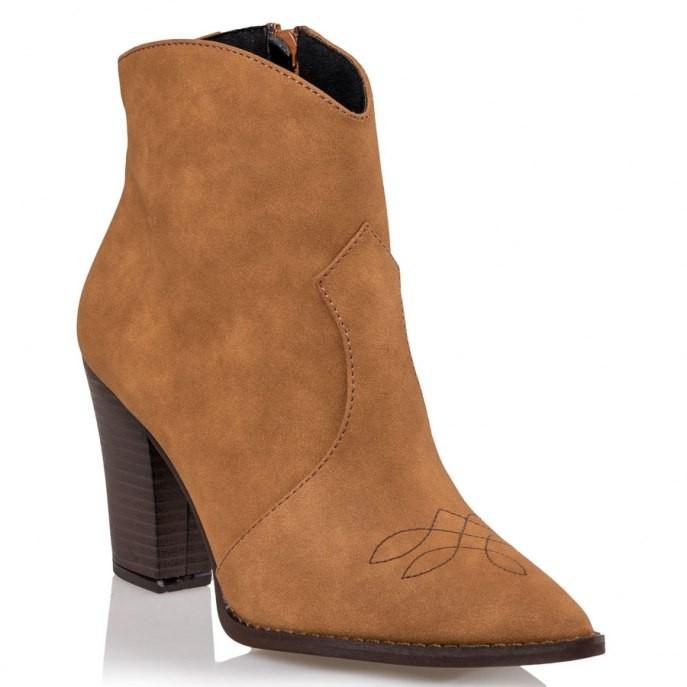 Mairiboo by Envie Shoes Γυναικεία Mποτάκια M03-10425-26 Ταμπά EL PASO